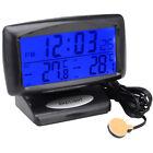 Digital Car OUT/IN Dual Thermometer Temperature Sensor Vehicle Alarm Clock