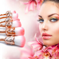 6Pcs Foundation Makeup Brushes Face Blending Rose Flower Shape Brushes Kit NEW
