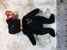 Ty Beanie Baby Original Black The End Bear With All Tags & Errors etc.