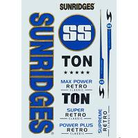 SS Retro Blue  Cricket Bat Sticker 3D Embossed + AU Stock + Free Shipping