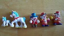 LOT of 5 VINTAGE 80s MEGO CLOWN AROUND PCV Figures - CIRCUS & BAND with UNICORNS
