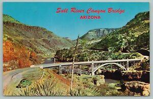 Arizona~Salt River Canyon Bridge~Highway 60~Spans Salt River~Vintage Postcard