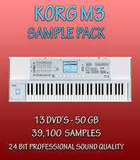KORG M3 SAMPLES ON 13 DVD'S - APPLE LOGIC PRO EXS-24 + WAV FORMAT - 50GB- 24 BIT