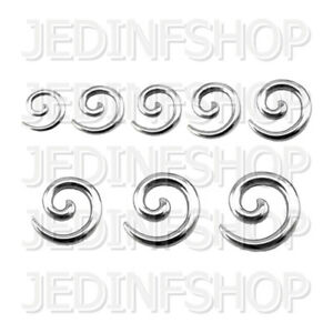 Ear Taper Stretcher Expander - Spiral Snail | 1.6mm-10mm | Stainless Steel