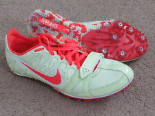Euc Nike Racing Zoom Rival S light yellow-green+neon coral track spikes womens 7