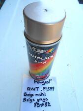 BOMBE PEINTURE PEUGEOT AWT,P1577, Beige metal ou Beige grege.MOTIP 400 ml