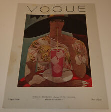 "VOGUE ""Interior Decoration features In This Number""  Aug. 1, 1926 Print 1970's"