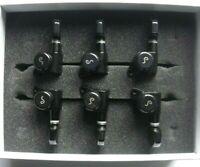 Schaller M6 Locking Tuners 135° Mechaniken 3L 3R BlackChrome