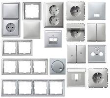 Merten artec Farbe aluminium silber Steckdose Wippe Rahmen zur Auswahl