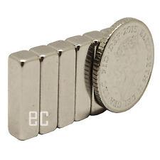 4 PEZZI 10mm x 4mm x 4mm forte NEODIMIO BLOCCO TERRE RARE oblunghi MAGNETI