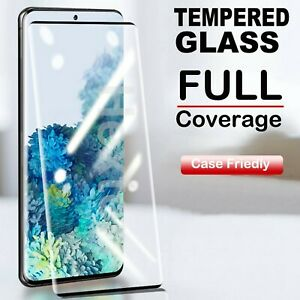 10D Tempered Glass Screen Protector For Samsung Galaxy S20 S10+ S9 S8 Full Cover