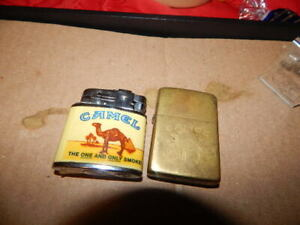 Vintage lot Of Two (2) Camel Cigarette Lighters -Zippo And1995 RJRTC