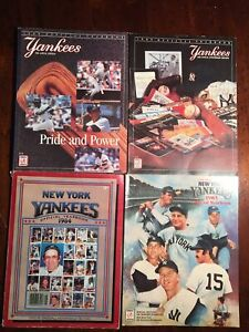 Lot of (4) Official New York Yankees Yearbooks 1984/1985/1988/1989