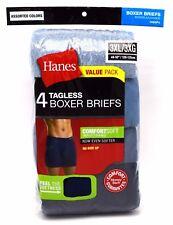 12 Hanes Blue Black Gray Red 3xl 48-50 Boxer Briefs ComfortSoft 3xg 120-125 Cm