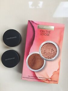 Bare Minerals On The Loose Bronzer & Blusher Set. 2 Full Size Products *GIFT*