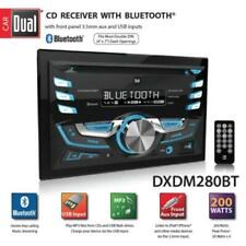 Dual DXDM280BT Double Din Am Fm Tuner Cd Player Bluetooth Usb Aux Mp# Lcd Remote