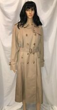 BURBERRY London Double Breasted Classic Trench Coat Nova Check Size 12 L