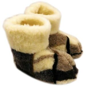 WOOL MEN'S NATURAL SHEEPSKIN SLIPPERS BOOTS PURE 100%