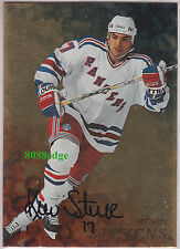 1998-99 BE A PLAYER GOLD AUTO: KEVIN STEVENS #88 ON CARD AUTOGRAPH RANGERS