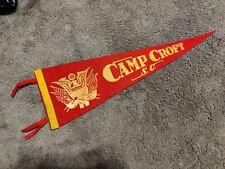 Vintage Camp Croft, Sc Us Army pennant Felt