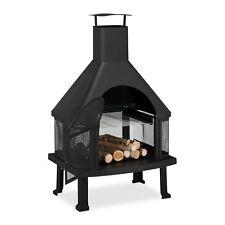 Terrassenofen mit Grill, Feuerofen, Outdoor Kamin, Gartenfeuer, Feuerständer XL