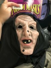 Hooded Mask Haggard Witch New!