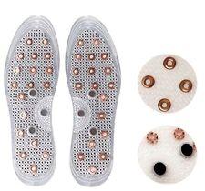 Anti-Odor Deodorization Acupressure Copper Magnetic Insert Shoes Insole 1 pairs