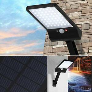 PIR Motion Sensor Light Outdoors Remote Control Security LED Solar Powered Lamp