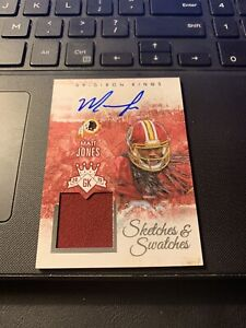 2015 Gridiron King MATT JONES Sketches & Swatches Autograph/Game Used /249