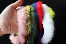 12 Colors 5mm Cross Cut Rabbit Zonker Strips Fur Hare Hair Fly Tying Materials