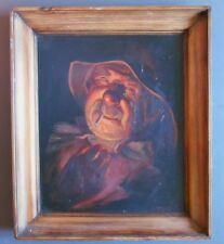 Superbe Tableau de Louis Montaigu - Le Fumeur - Portrait de Pêcheur - Huile