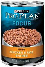 Purina Pro Plan Wet Dog Food, Focus, Puppy Chicken and Rice Entree Classic, 13-O