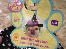 "Rubie's Pet Shop Dog Costume Outfit ""Witch Hat With Hair"" Small Medium"