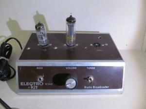 Vintage Electro Kit RC3AX Radio transmitter Broadcaster AM 3 vacuum tube