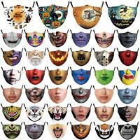 Stoff Maske Mund Nase Schutz waschbar Baumwolle mit Tasche für PM2.5 Filter
