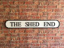 Vintage Wood Street Sign THE SHED END
