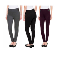 NEW!! DKNY Women's Mid Rise Pull On Silhouette Ponte Pants Variety