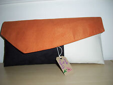 orange suede clutch bag | eBay