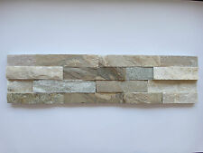 pièces de PATRON ca.15x30cm Le pierre naturelle brique murale beige lanières