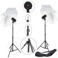 Kit Éclairage Barebulb Lampe Studio Photo DynaSun 2x100W Flash Parapluie Trépied