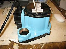 Little Giant Pump Model 506156 Submersible 1/3 HP Sump Pump