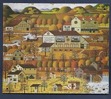 NEW! CHARLES WYSOCKI METAL SIGN Amish Autumn