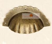 4pcs Furniture Hardware Vintage Zinc Alloy Petals Drawer Handles Pull Retro