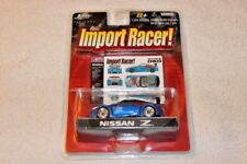 Jada Toys Import Racer! 1:64 2004 Nissan 350Z Fairlady Blue Drifting Roja RARE