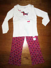 Jumping Beans Girls 2 piece white Long sleeve adorable stretch pants set size 5