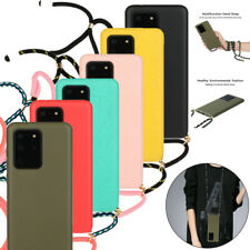 Neck Strap Silicone Rubber Case Cover for Samsung Galaxy S20 Ultra S20 5G S10+