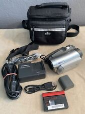 Panasonic Pv-Gs29 Mini Dv Camcorder Bundle Bag 2 Batteries Charger Tested Works!