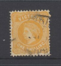 VIC Stamps - Queen Victoria - 1873 - 1s Yellow used - SG381