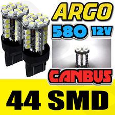 2 X 580 44 Smd Led Xenon Super White 7443 w21/5w T20 Cuña Trasera Tail Light Bulbs