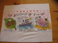 Love Cross Stitch Picture - A Dictionary of Love